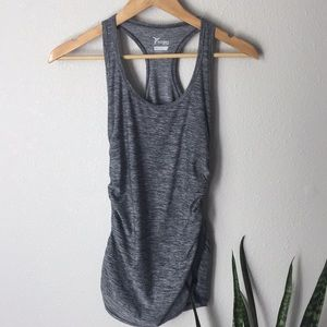 Old Navy Gray Elastic Workout Active Tank Top